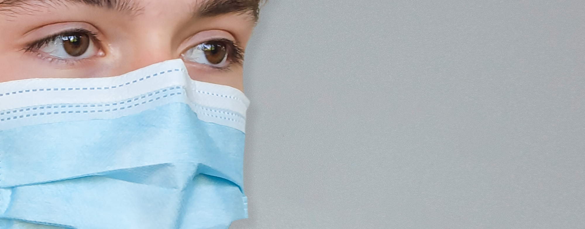 Mund-Nasen-Schutz MNS mit hoher Schutzwirkung - Detailaufnahme